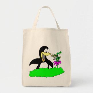 Penguin and Leprechaun Tote Bag