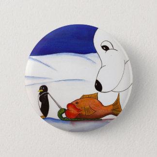 penguin and polar bear pinback button