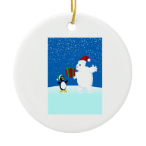 Penguin and Snowman Holiday Ornament