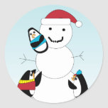 Penguin and Snowman Sticker