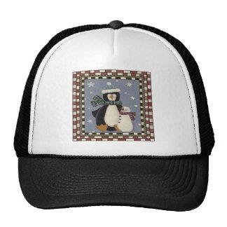 Penguin and Snowman Trucker Hat