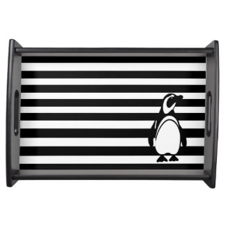 Penguin and Stripes Serving Tray
