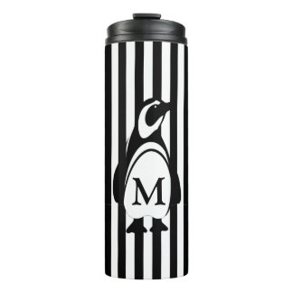 Penguin and Stripes Thermal Tumbler