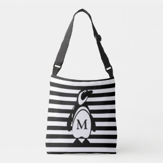 Penguin and Stripes Tote Bag