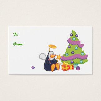 Penguin Angel Christmas Business Card
