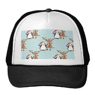 Penguin annuitant penguin more reindeer trucker hat