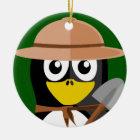 Penguin Archaeologist Ceramic Ornament