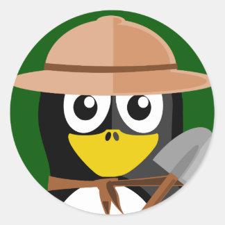Penguin Archaeologist Classic Round Sticker