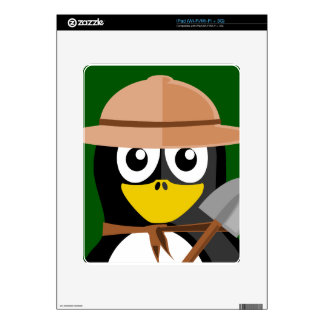 Penguin Archaeologist Decals For iPad