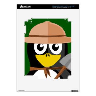 Penguin Archaeologist iPad 3 Skins