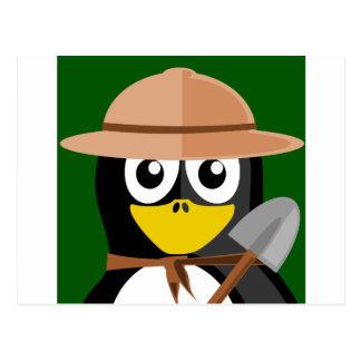 Penguin Archaeologist Postcard
