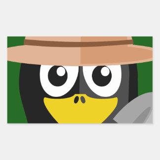 Penguin Archaeologist Rectangular Sticker