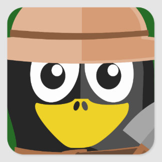 Penguin Archaeologist Square Sticker
