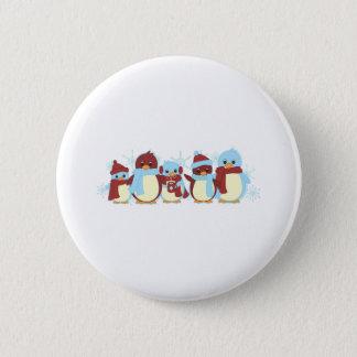 Penguin Around Pinback Button