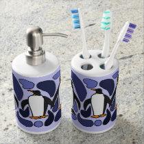 Penguin Art Bath Set