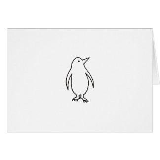 Penguin art fun fresh simple line drawing logo greeting card