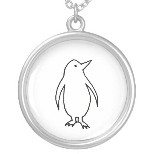 Line Art Earrings : Penguin art original line drawing fresh and simple custom