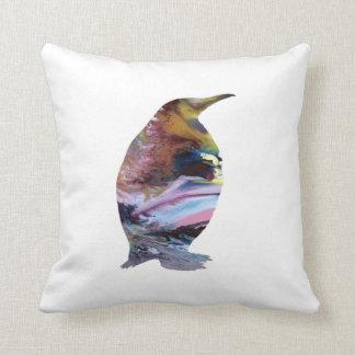 Penguin Art Throw Pillow