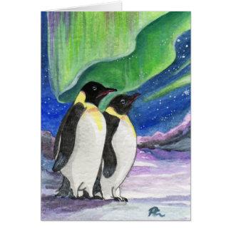 Penguin Art Under The Light Card