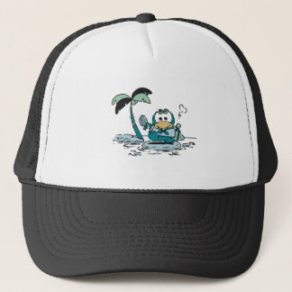 Penguin at Beach Tshirts and Gifts Trucker Hat