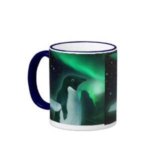 PENGUIN & AURORA Wildlife Fantasy Gift Travel Mug