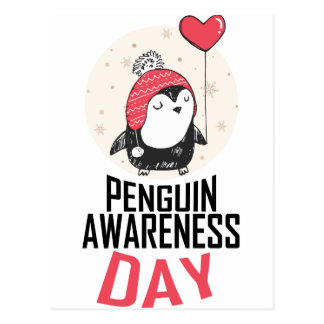 Penguin Awareness Day - Appreciation Day Postcard