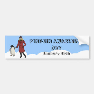 Penguin Awareness Day, bumper sticker