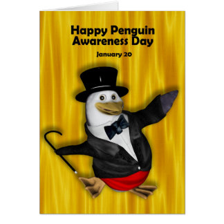 Penguin Awareness Day Card ~ January 20