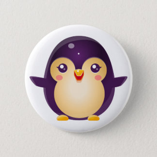 Penguin Baby Animal In Girly Sweet Style Button