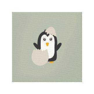 Penguin baby canvas print