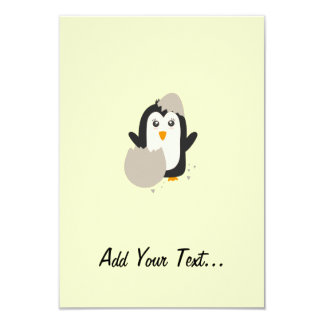 Penguin baby card