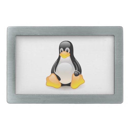 Penguin baby cute cartoon illustration rectangular belt buckles