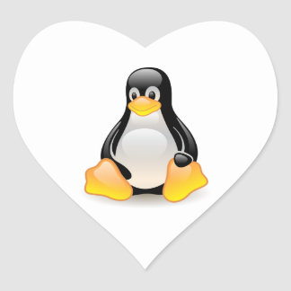 Penguin baby cute cartoon illustration heart sticker