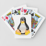 Penguin baby cute cartoon illustration bicycle poker cards