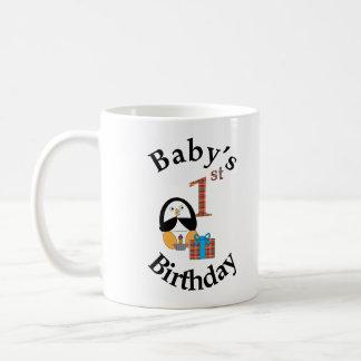 Penguin Baby s 1st Birthday Coffee Mugs