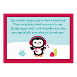 Penguin Baby Shower Book Request Cards Business Card