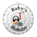 Penguin Baby's 1st Birthday Dartboard With Darts