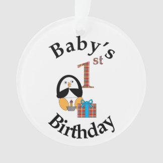 Penguin Baby's 1st Birthday Ornament