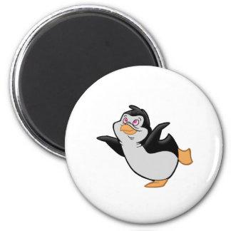 Penguin Ballet 2 Inch Round Magnet