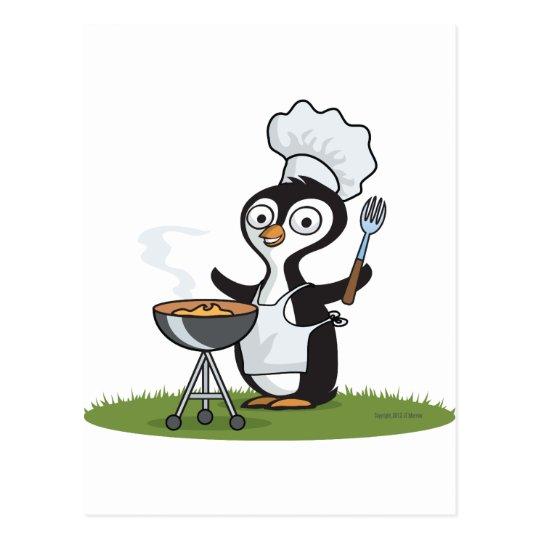 Penguin Barbecue Postcard