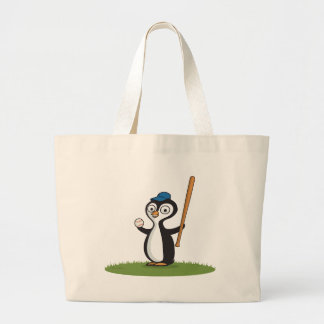 Penguin Baseball Canvas Bag