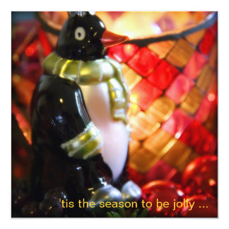Penguin Bauble · Christmas Party Invitation