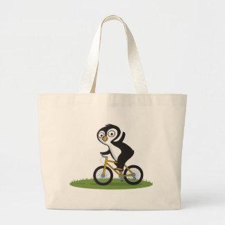 Penguin Biker Canvas Bags
