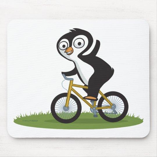Penguin Biker Mouse Pad
