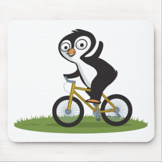 Penguin Biker Mousepad