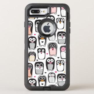 penguin bird illustration background OtterBox defender iPhone 8 plus/7 plus case