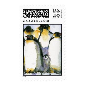 Penguin Bird Lover Winter Holiday Stamp