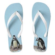 Penguin Birds Flip Flops