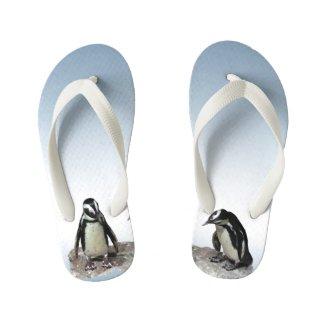 Penguin Birds Kids Flip Flops