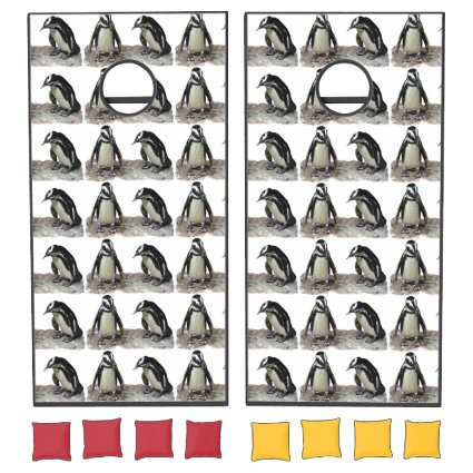 Penguin Birds Pattern Cornhole Set